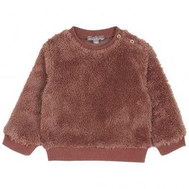 Sweatshirt peluche auburn pour bébés de la marque Emile et Ida