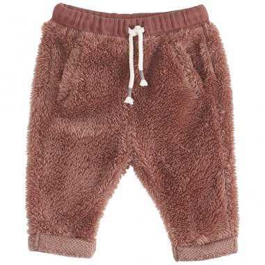 Pantalon peluche auburn pour bébés de la marque Emile et Ida