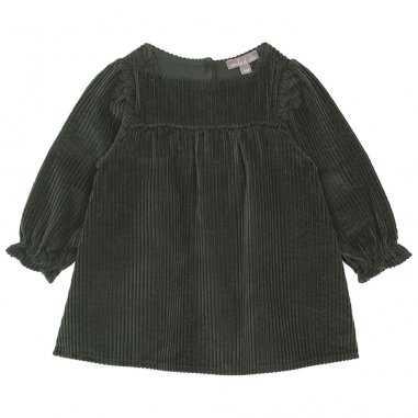 Robe velours vert olive pour bébés de la marque Emile et Ida