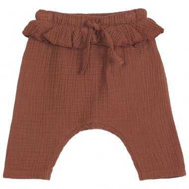 Pantalon à volants auburn pour bébés de la marque Emile et Ida