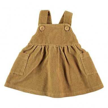 Robe en velours moutarde pour enfants de la marque Bean's Barcelona