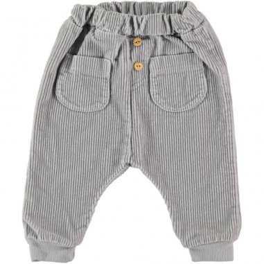 Pantalon sarouel en velours gris clair pour enfants de la marque Bean's Barcelona