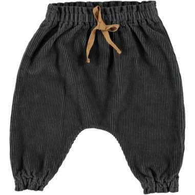 Pantalon sarouel en velours anthracite pour enfants de la marque Bean's Barcelona