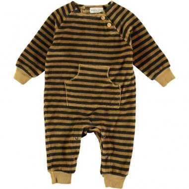 Pyjama à rayures moutarde pour bébés de la marque Bean's Barcelona