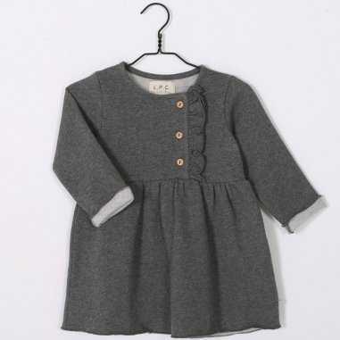 Robe grise en molleton pour enfants de la marque Les Petites Choses