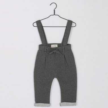 Pantalon à bretelles anthracite pour enfants de la marque Les Petites Choses