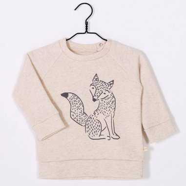 Sweatshirt fox crème pour enfants de la marque Les Petites Choses