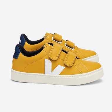 Sneakers esplar velcro moutarde pour enfants de la marque Veja