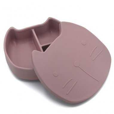 Boîte à goûter en silicone chat pour enfants de la marque The cotton cloud