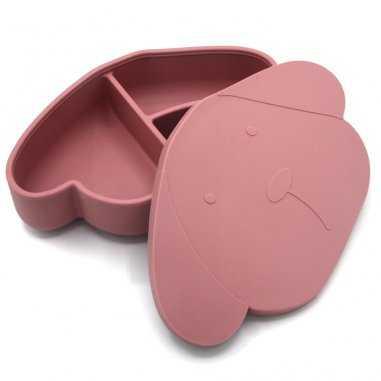 Boîte à goûter en silicone chien pour enfants de la marque The Cotton Cloud