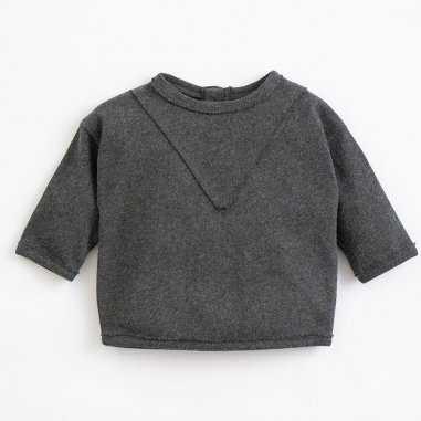 Sweatshirt anthracite pour enfants de la marque Play up