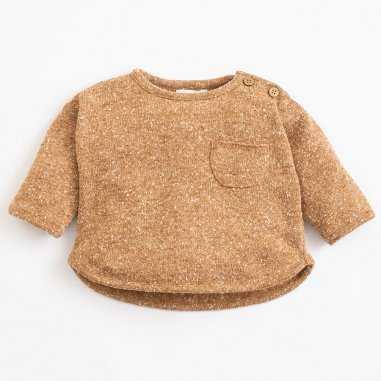 Sweatshirt en coton camel pour enfants de la marque Play up