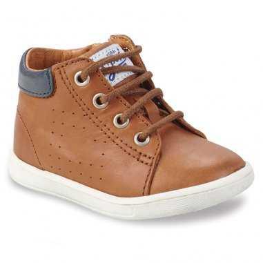 Chaussures cognac pour enfants de la marque GBB
