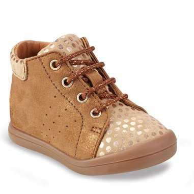 Chaussures camel pailletées pour enfants de la marque GBB