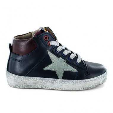 Chaussures marine et bordeaux pour enfants de la marque Stones and Bones
