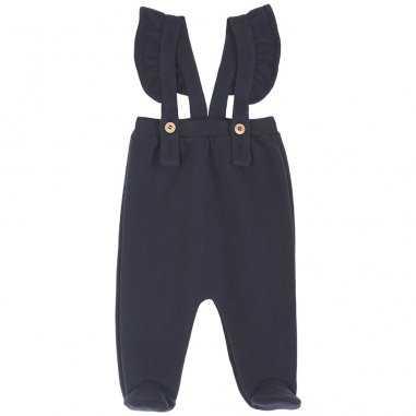 Pantalon à pieds bitume pour bébés de la marque Emile et Ida