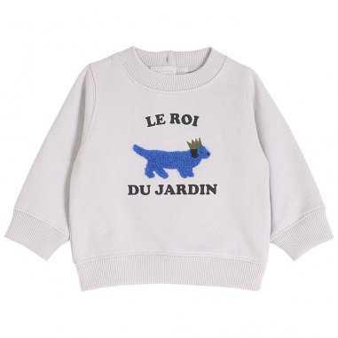 Sweatshirt le roi du jardin pour bébés de la marque Emile et Ida
