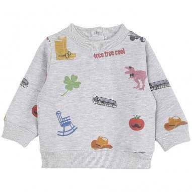 Sweatshirt america gris chiné pour enfants de la marque Emile et Ida