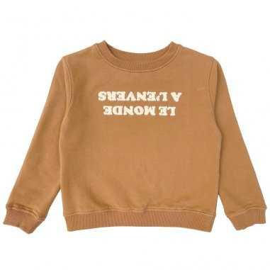 Sweatshirt le monde à l'envers pour enfants de la marque Emile et Ida