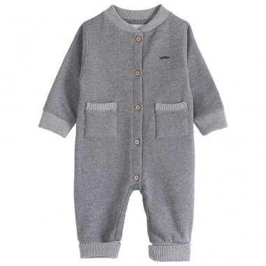 Combinaison gris chiné pour bébés de la marque Emile et Ida