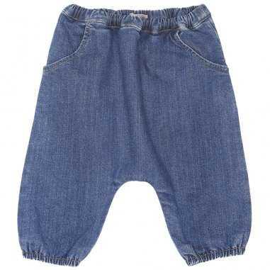 Pantalon sarouel en jean pour bébés de la marque Emile et Ida