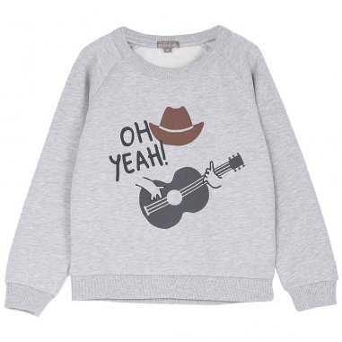 Sweatshirt cowboy gris chiné pour enfants de la marque Emile et Ida