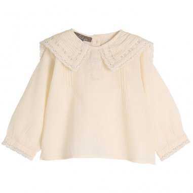 Blouse en voile de coton coquille pour bébés de la marque Emile et Ida
