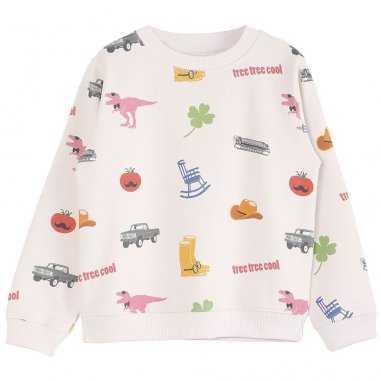Sweatshirt america écru pour enfants de la marque Emile et Ida