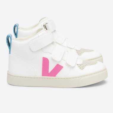 Sneakers Veja V10 montantes de couleur rose pour enfants