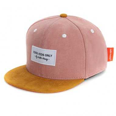 Casquette en daim old pink pour enfants et mamans de la marque Hello Hossy