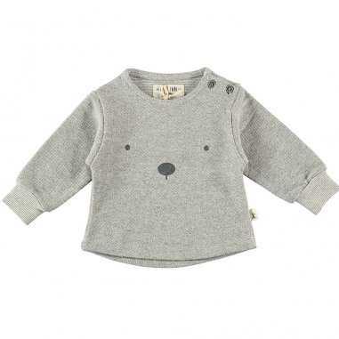 Sweatshirt ourson gris pour enfants de la marque Petit Indi