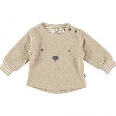 Sweatshirt ourson beige pour enfants de la marque Petit Indi