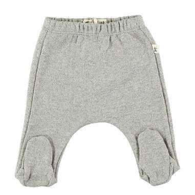 Pantalon à pieds gris clair pour bébés de la marque Petit Indi