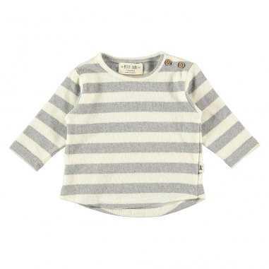 Sweatshirt à rayures gris clair pour enfants de la marque Petit Indi