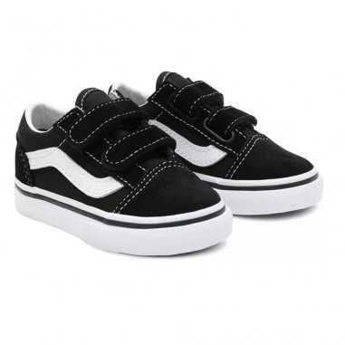 Sneakers Vans basses à scratchs de couleur noires pour enfants