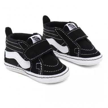 Layette Vans de couleur noir à scratch pour bébés