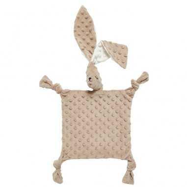 Grand doudou sensoriel lapin marron pour bébés de la marque Elva Senses