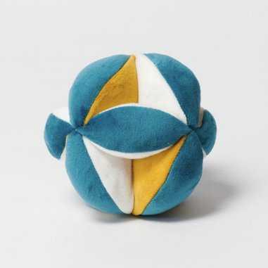 Balle Montessori bleu pour bébés de la marque Elva Senses