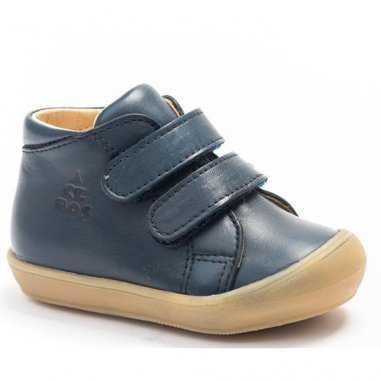 Chaussures premiers pas à scratchs marine pour enfants de la marque Acebos
