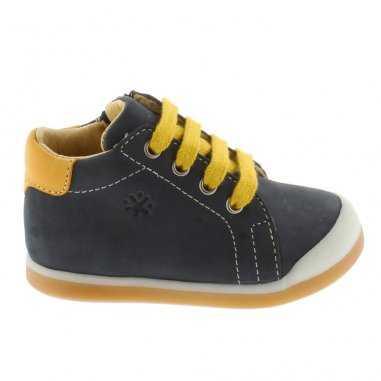 Chaussures marine et jaune pour enfants de la marque Acebos