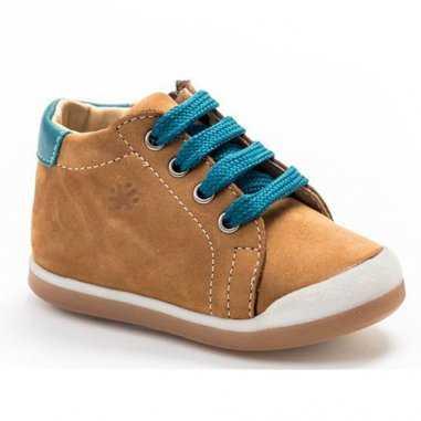 Chaussures camel et bleu pour enfants de la marque Acebos