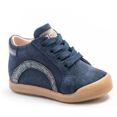 Chaussures marine et argenté pour enfants de la marquz Acebos