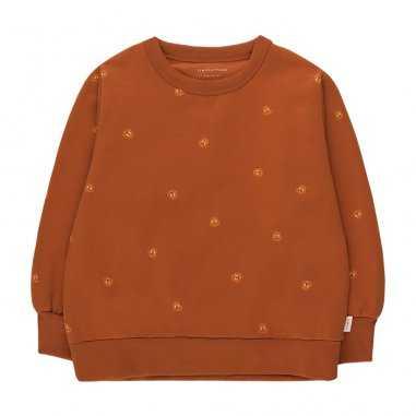 Sweatshirt marron pour enfants de la marque Tinycottons