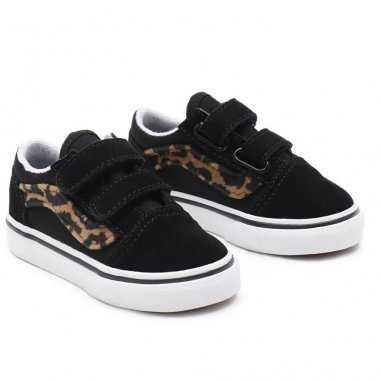 Sneakers de la marque Vans basses à scratchs léopard pour enfants