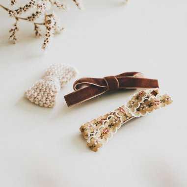 Set barrettes caramel pour enfants de la marque Gentil Coquelicot Paris