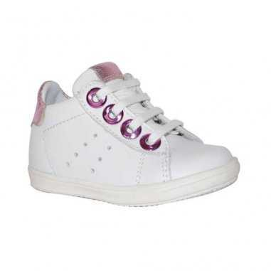 Chaussures pour filles Little Mary blanche et rose