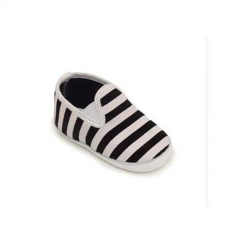 Chaussons pour bébés Patt'touch marine et blanc