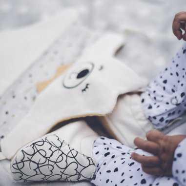 Chaussons pour bébés blanc easy peasy
