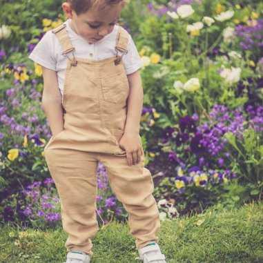 Salopette pour enfants Emile et Ida sable