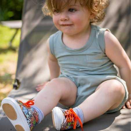 Chaussons bébés Patt'touch multicolore